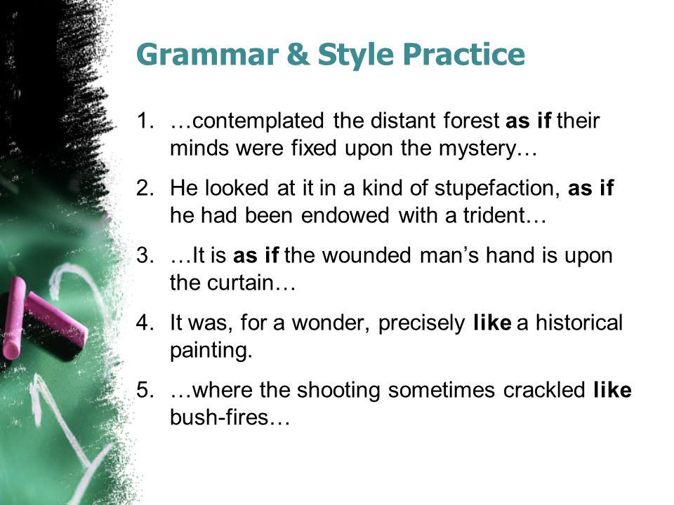 Grammar & Style Practice