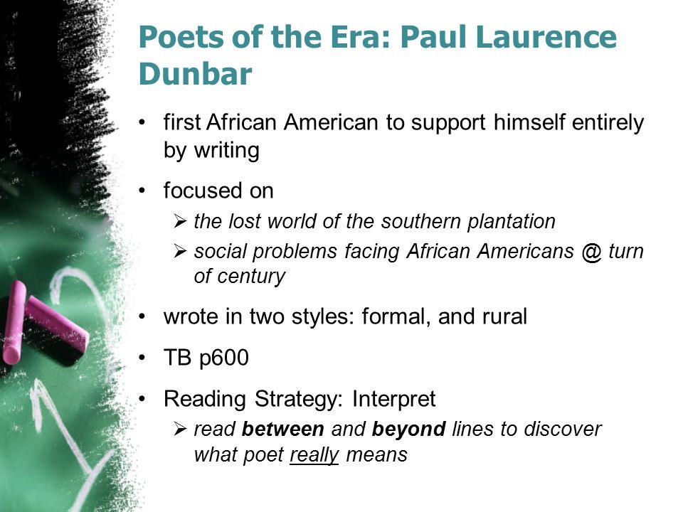 Poets of the Era: Paul Laurence Dunbar