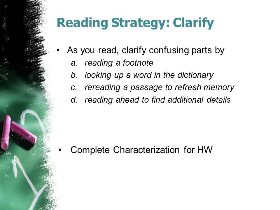 Reading Strategy: Clarify
