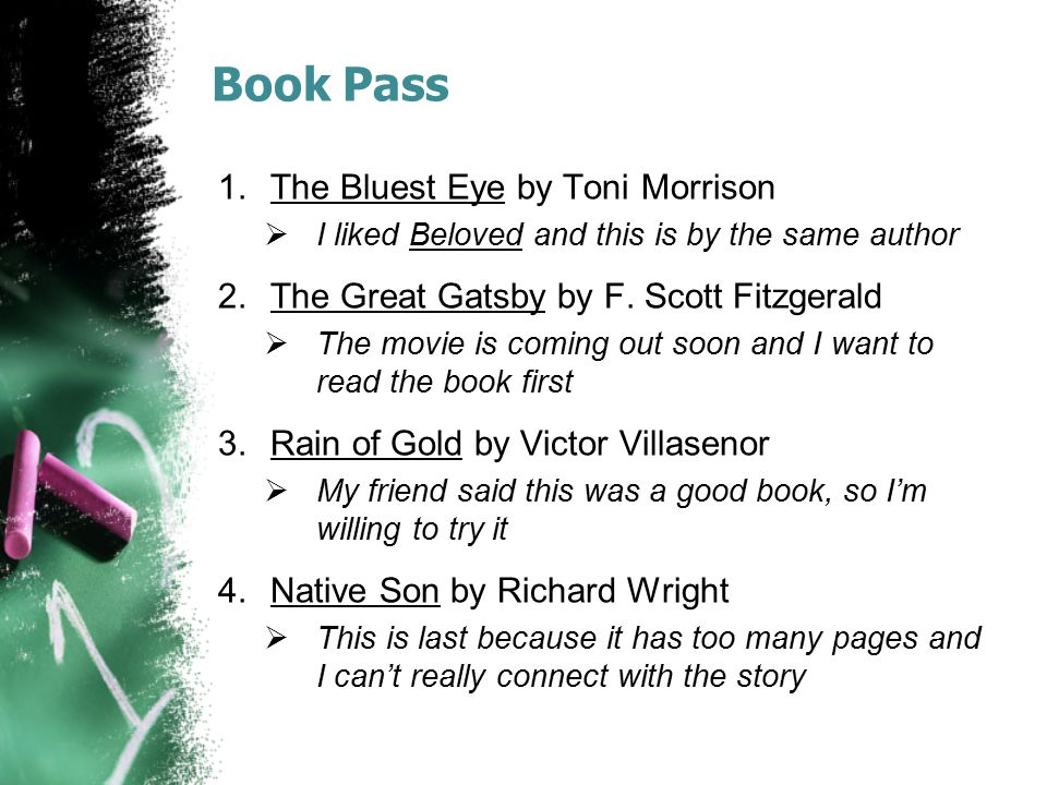 Book Pass The Bluest Eye by Toni Morrison