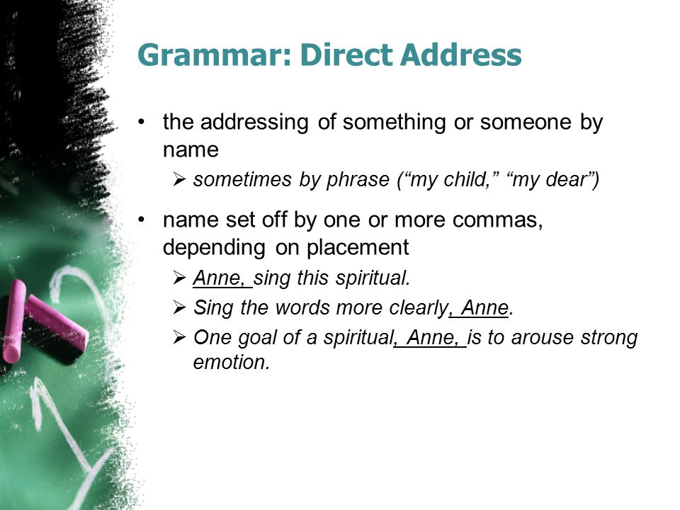 Grammar: Direct Address