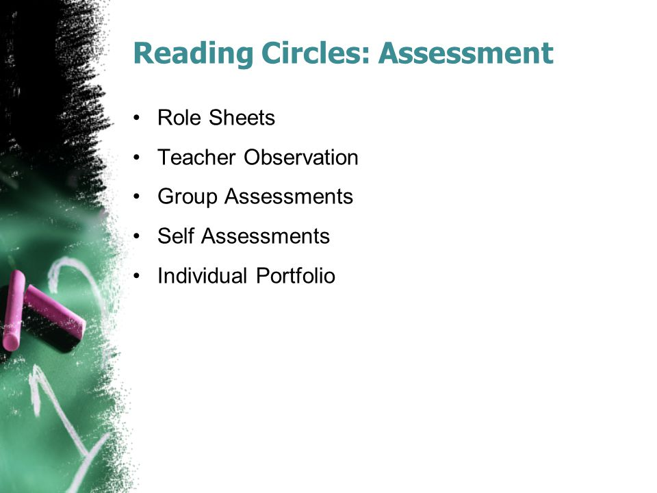 Reading Circles: Assessment