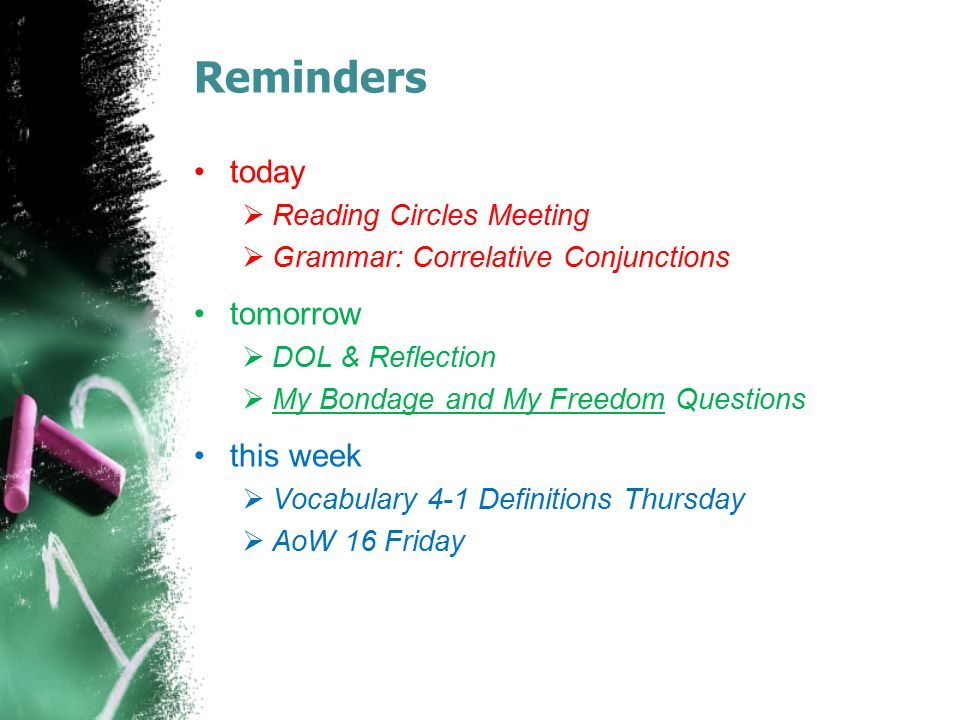 Reminders today tomorrow this week Reading Circles Meeting