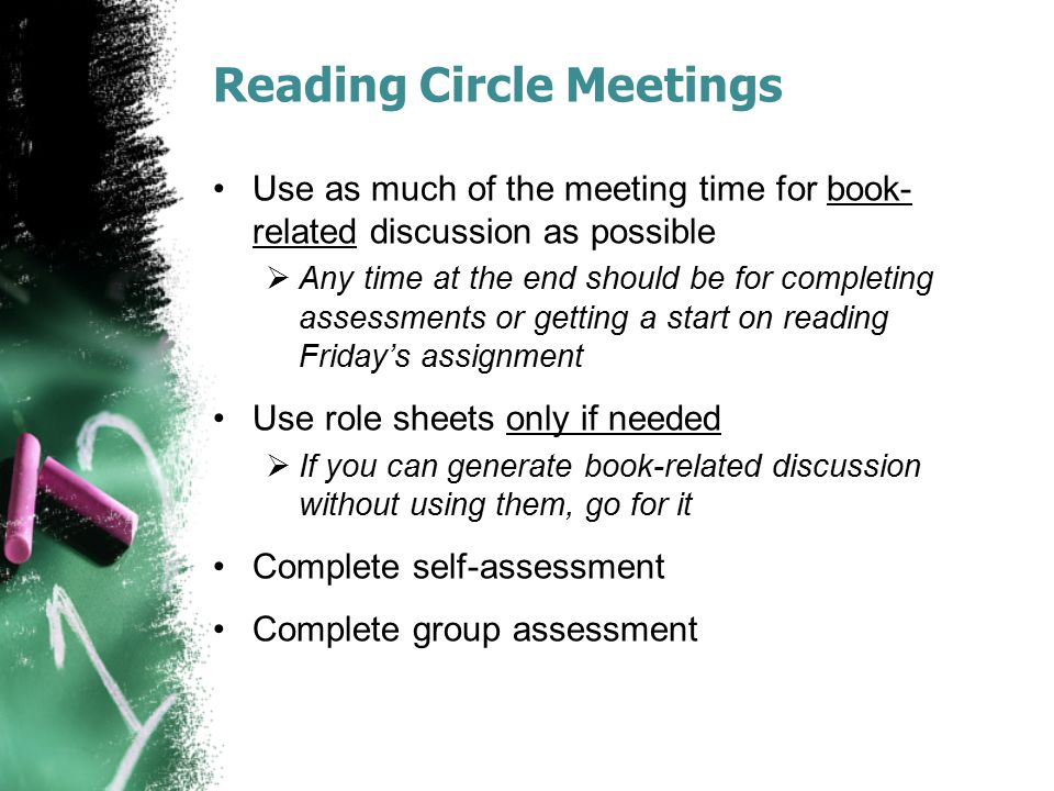 Reading Circle Meetings