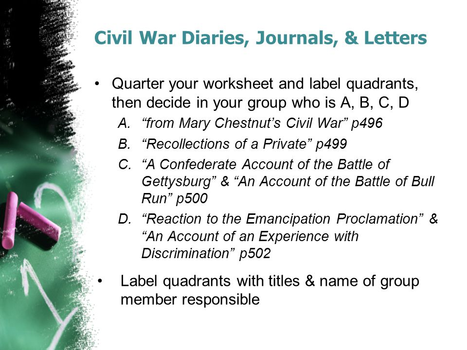 Civil War Diaries, Journals, & Letters