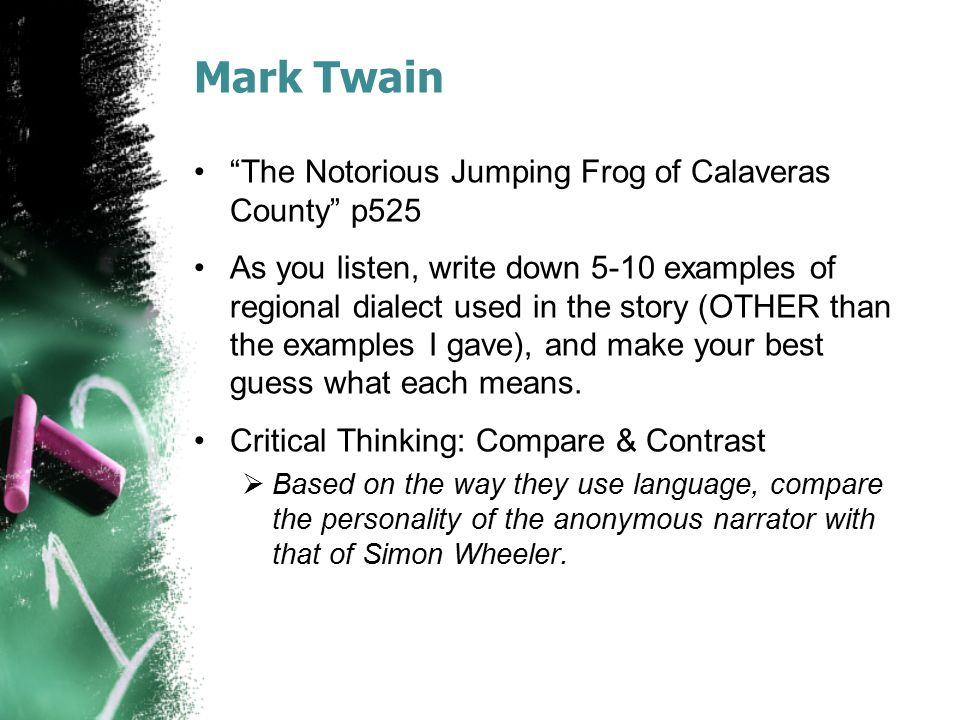 Mark Twain The Notorious Jumping Frog of Calaveras County p525