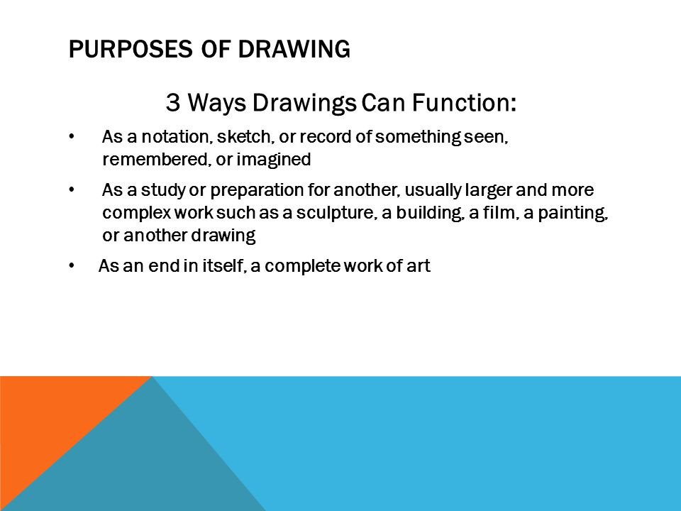 3 Ways Drawings Can Function: