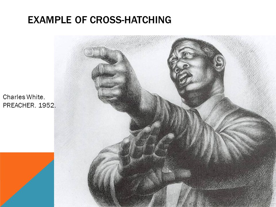 Example of cross-hatching