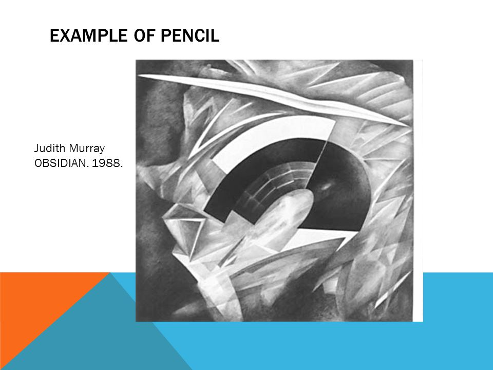 Example of Pencil Judith Murray OBSIDIAN. 1988.