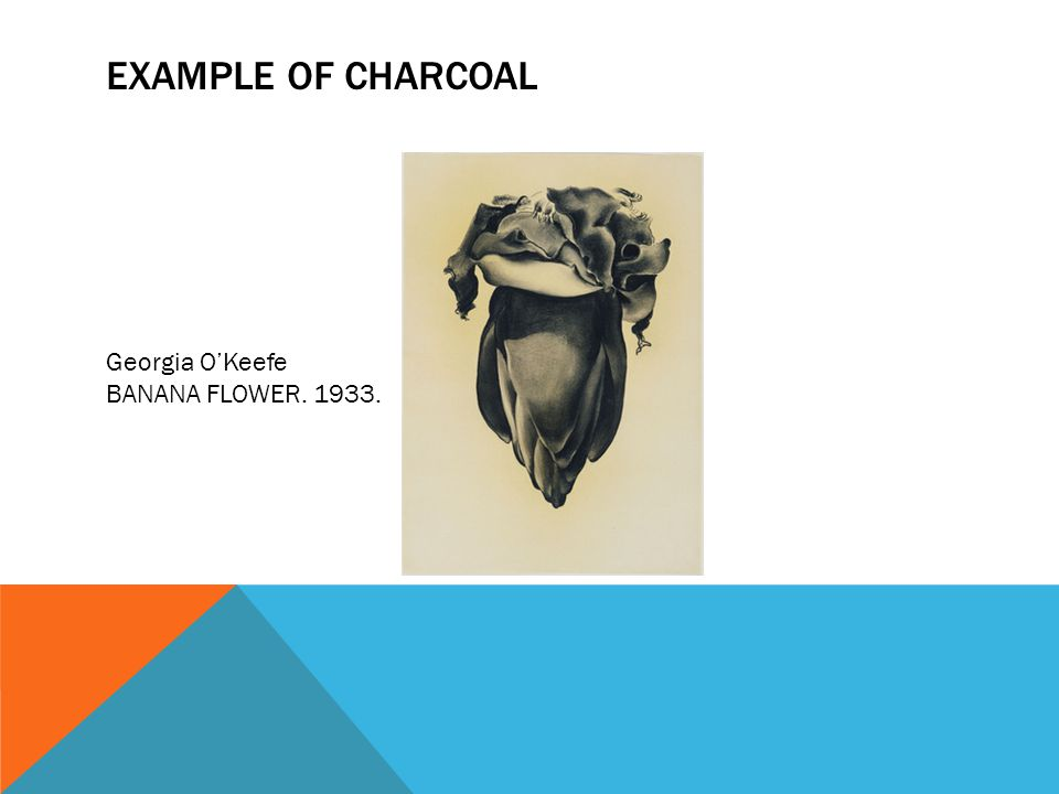Example of charcoal Georgia O'Keefe BANANA FLOWER. 1933.
