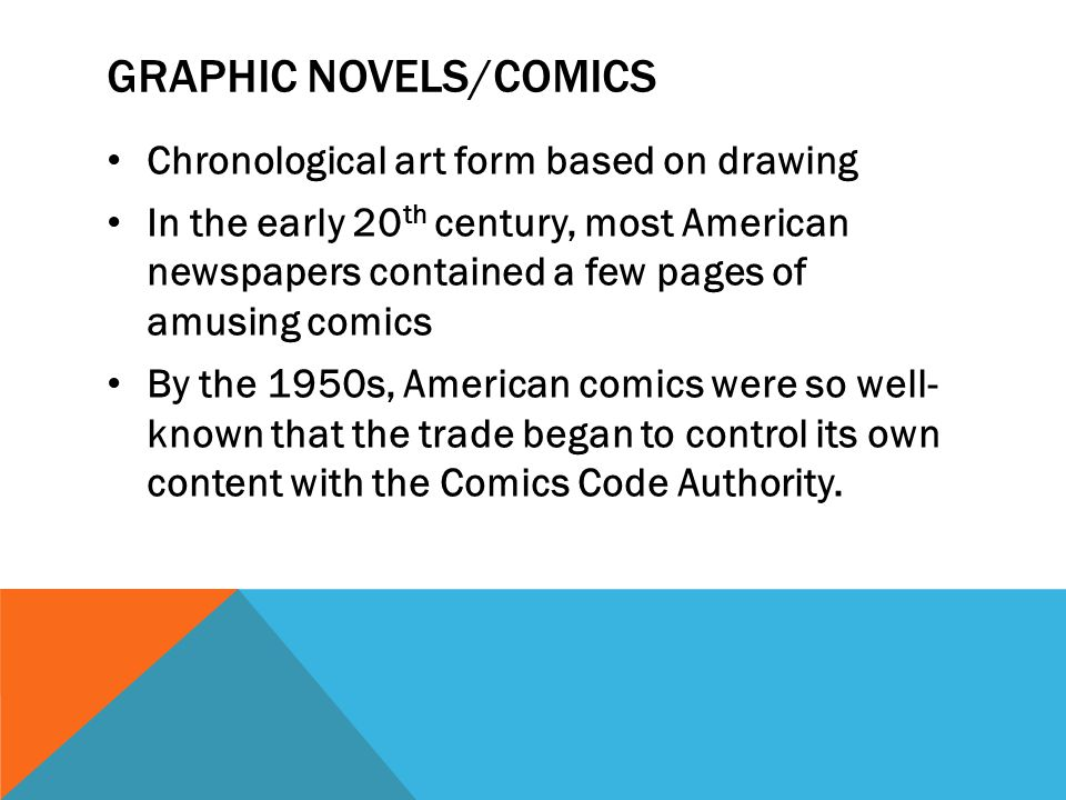 Graphic novels/comics