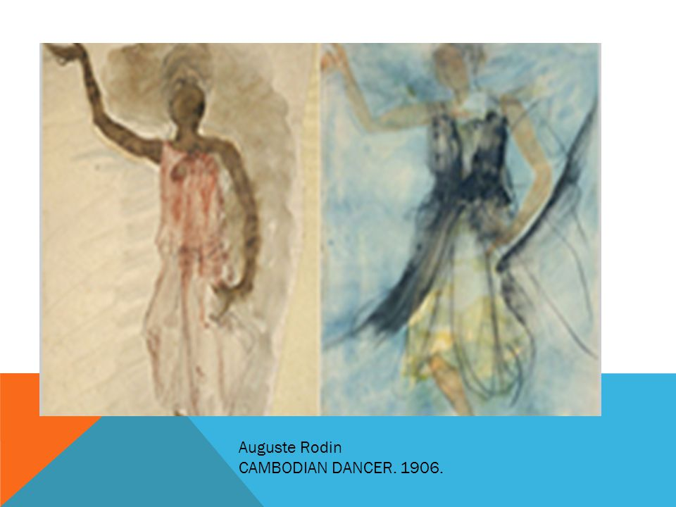 Auguste Rodin CAMBODIAN DANCER. 1906.