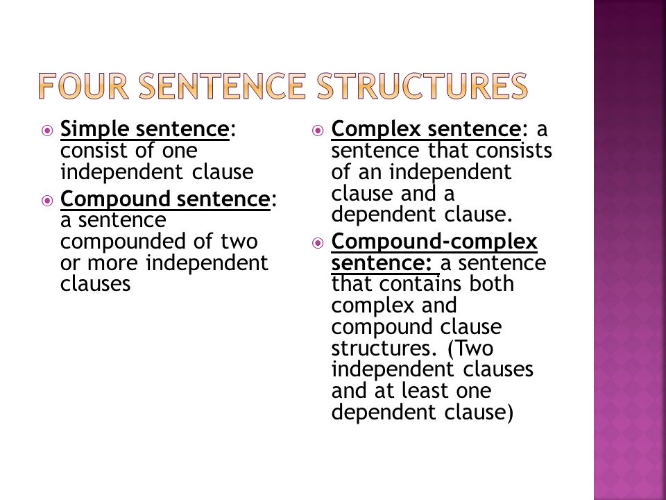 Four Sentence Structures