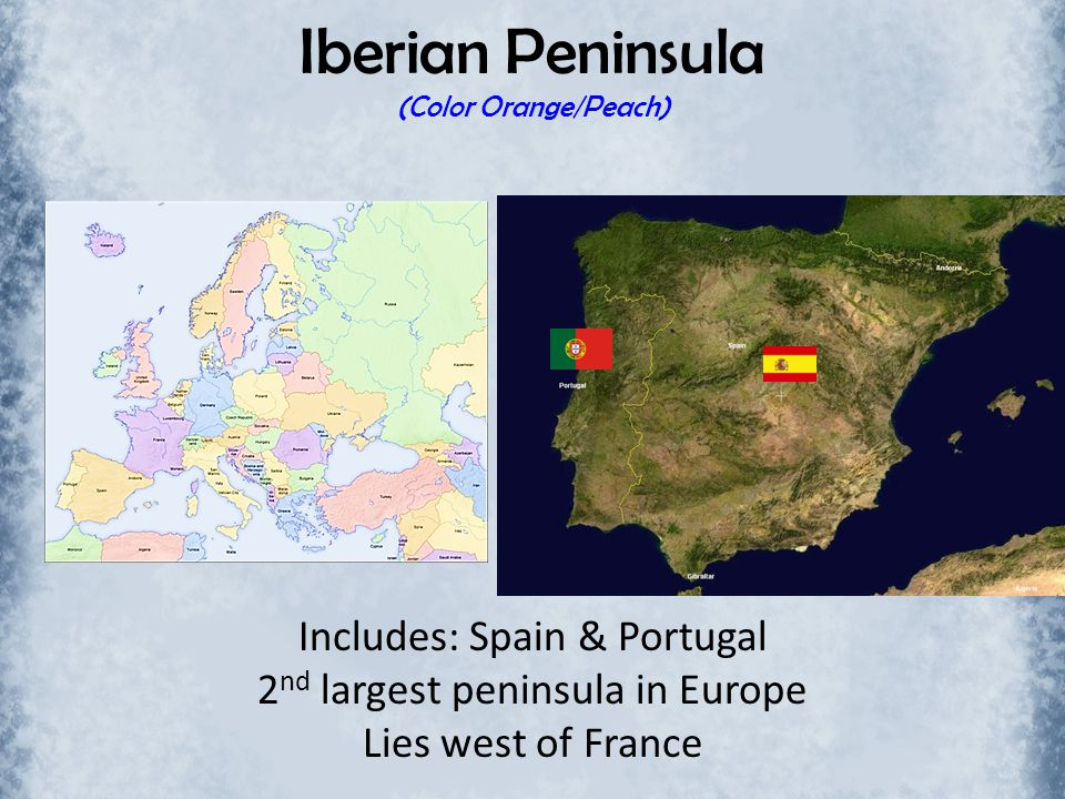 Iberian Peninsula (Color Orange/Peach)
