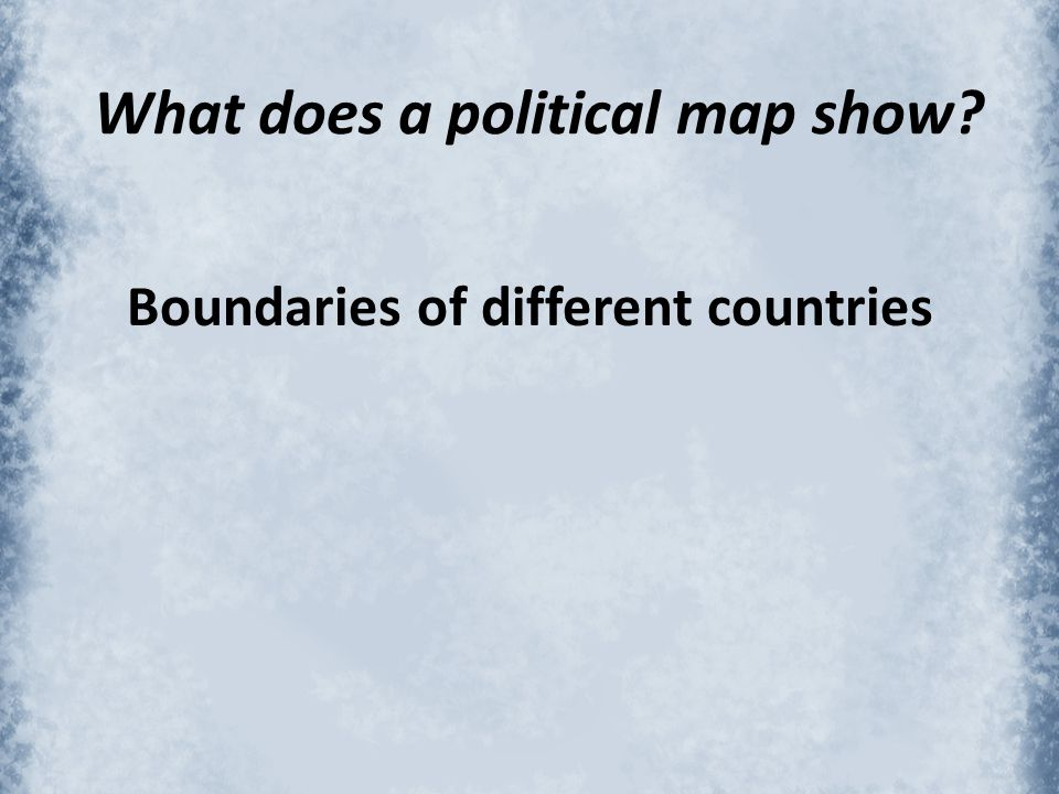 What does a political map show