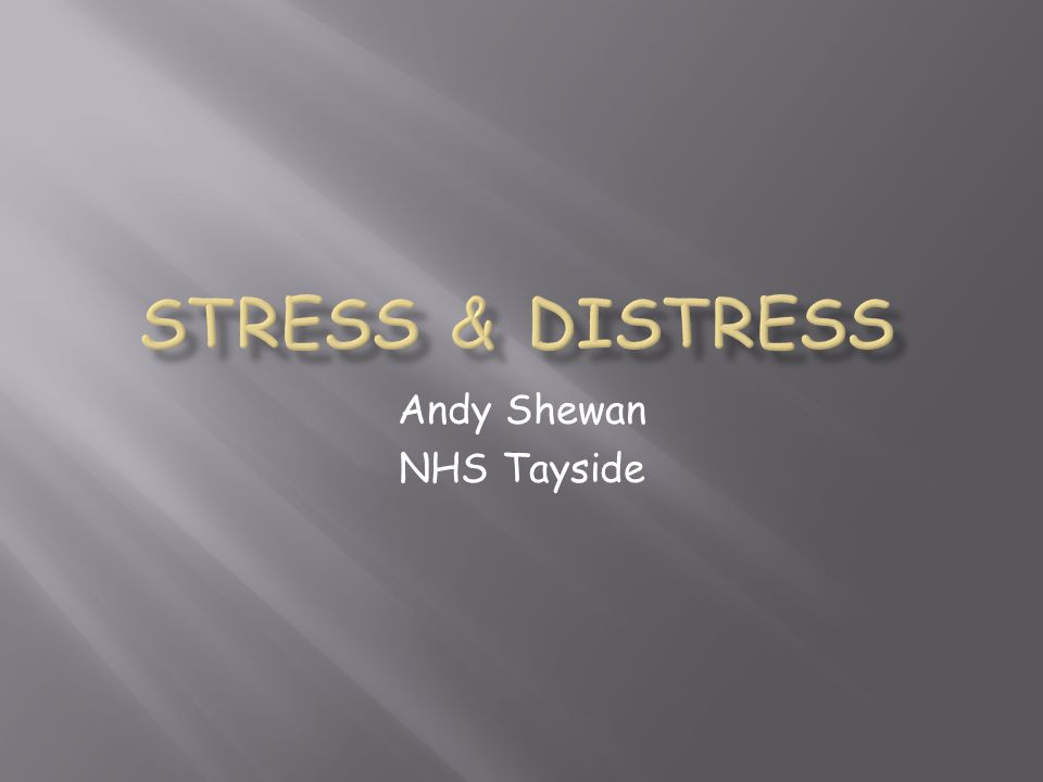 Andy Shewan NHS Tayside