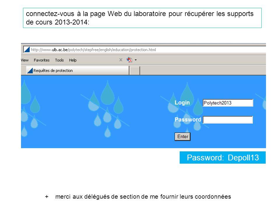 connectez-vous à la page Web du laboratoire pour récupérer les supports de cours 2013-2014: