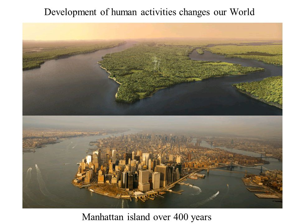 Development of human activities changes our World
