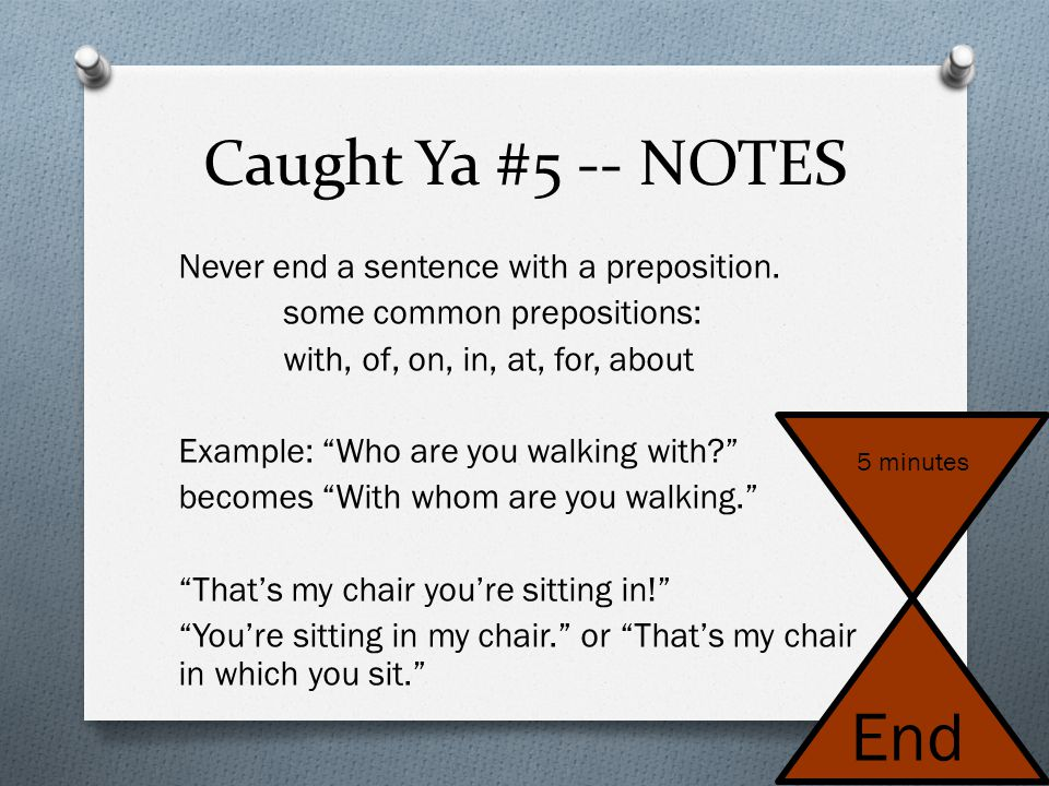 Caught Ya #5 -- NOTES