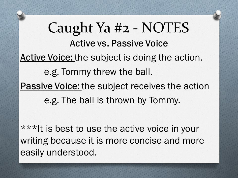 Caught Ya #2 - NOTES