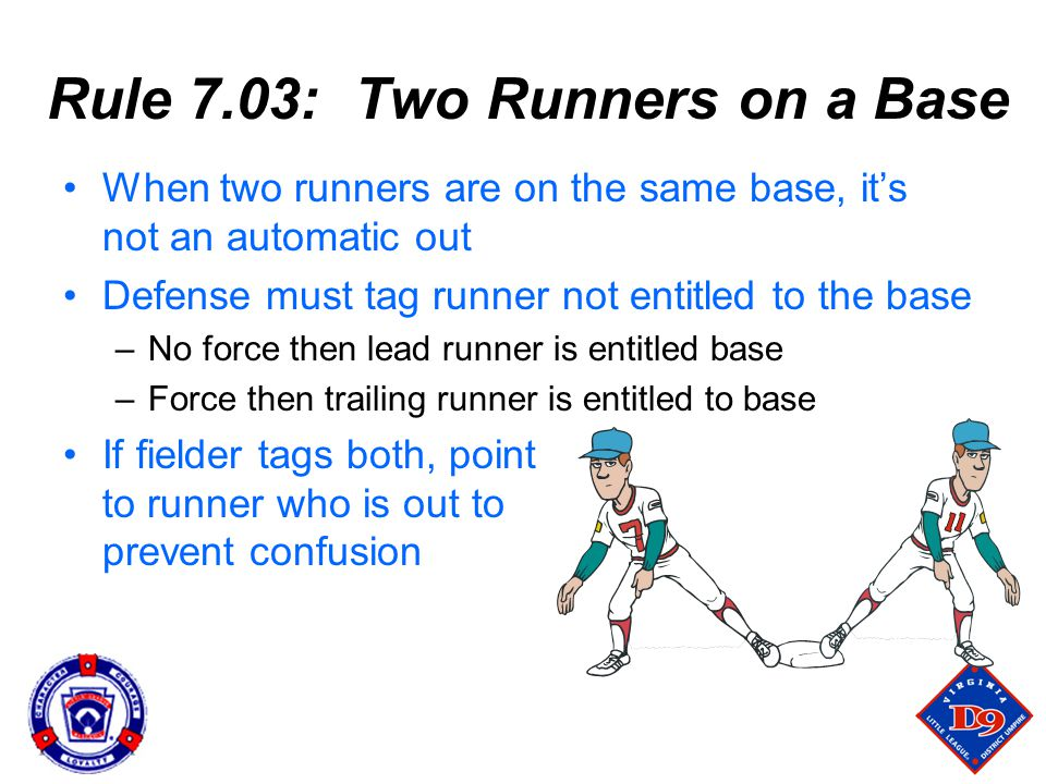 Rule 7.03: Two Runners on a Base