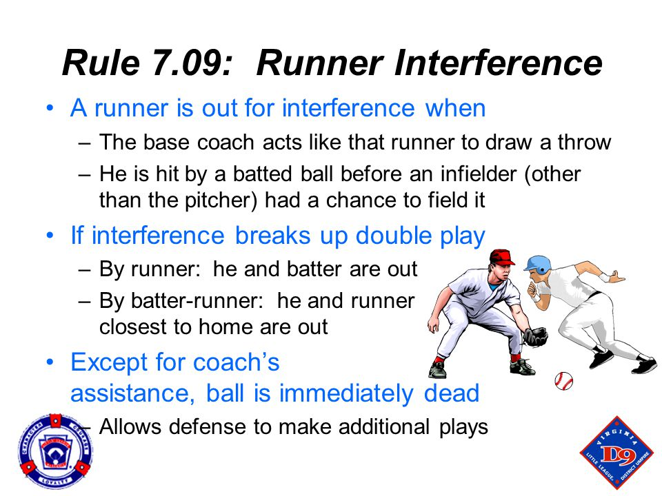 Rule 7.09: Runner Interference