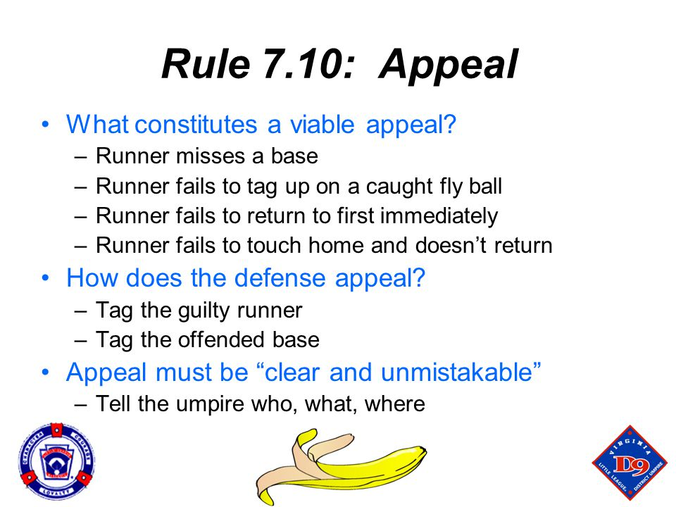 Rule 7.10: Appeal What constitutes a viable appeal