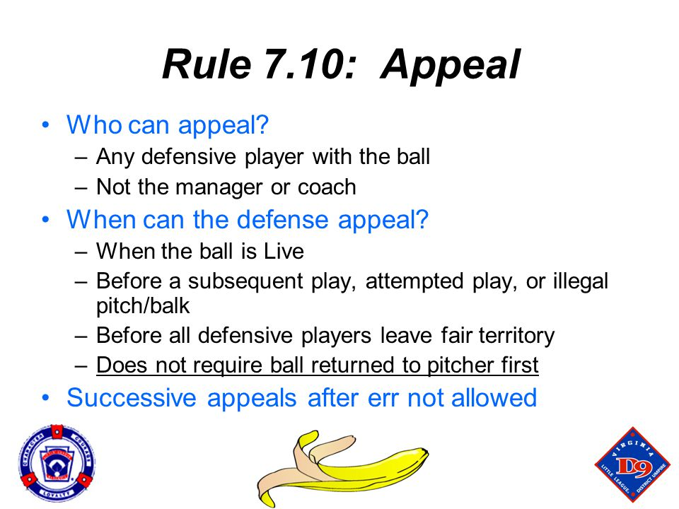 Rule 7.10: Appeal Who can appeal When can the defense appeal