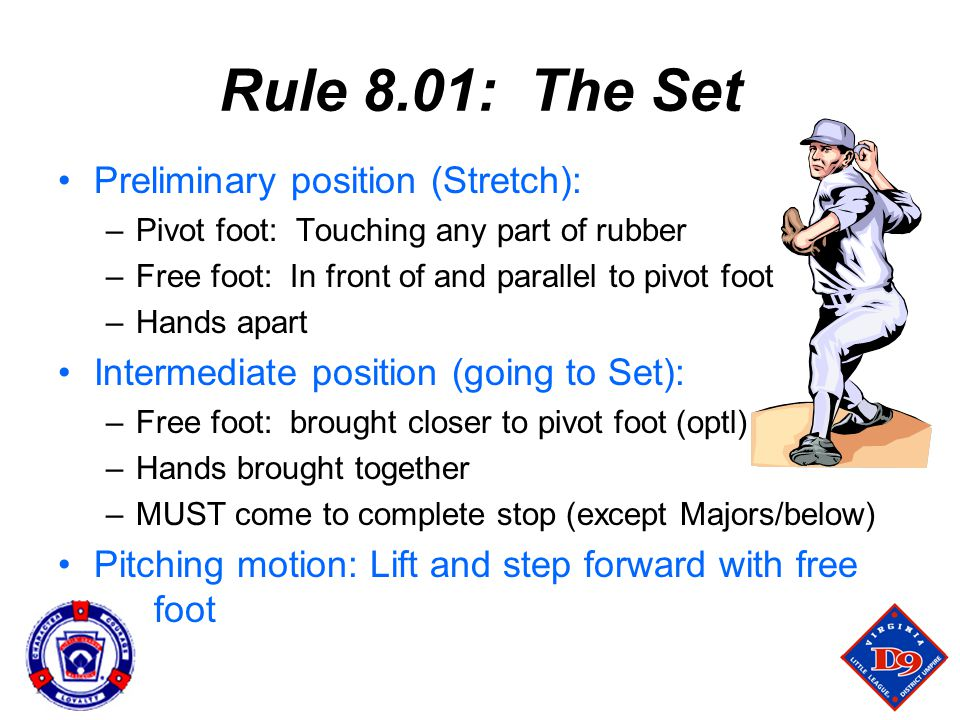 Rule 8.01: The Set Preliminary position (Stretch):