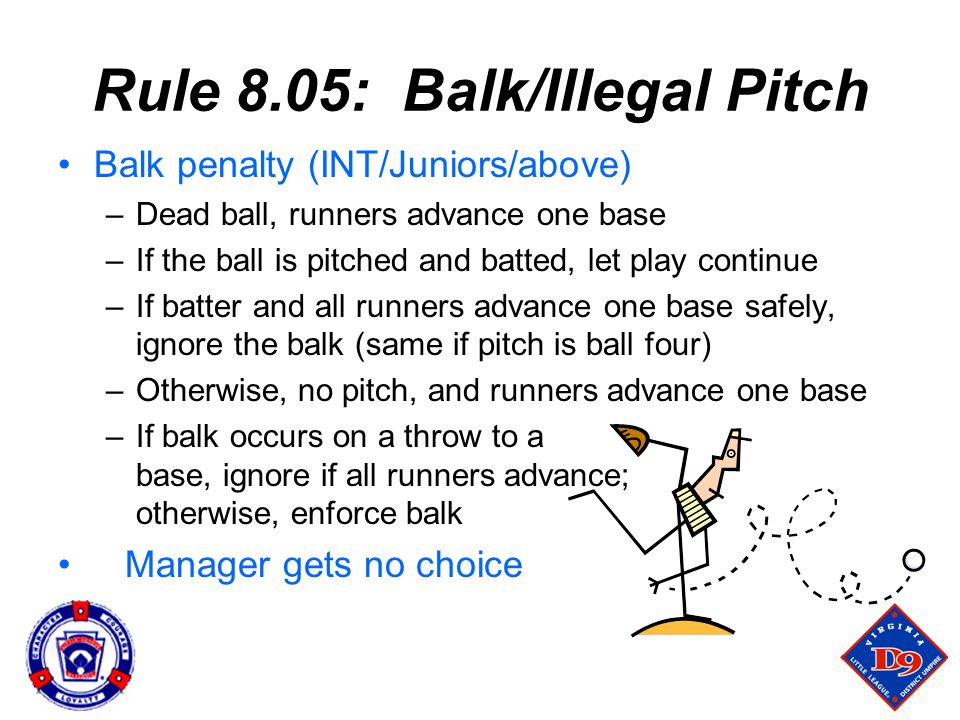Rule 8.05: Balk/Illegal Pitch