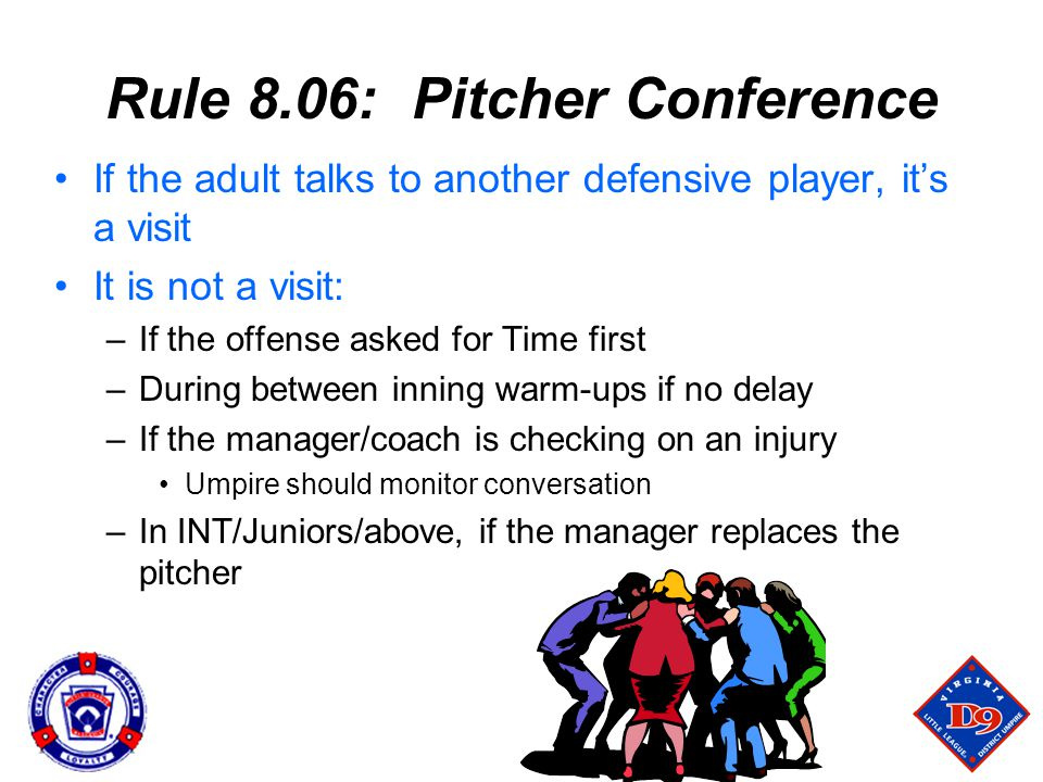 Rule 8.06: Pitcher Conference