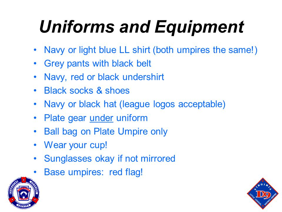 Uniforms and Equipment