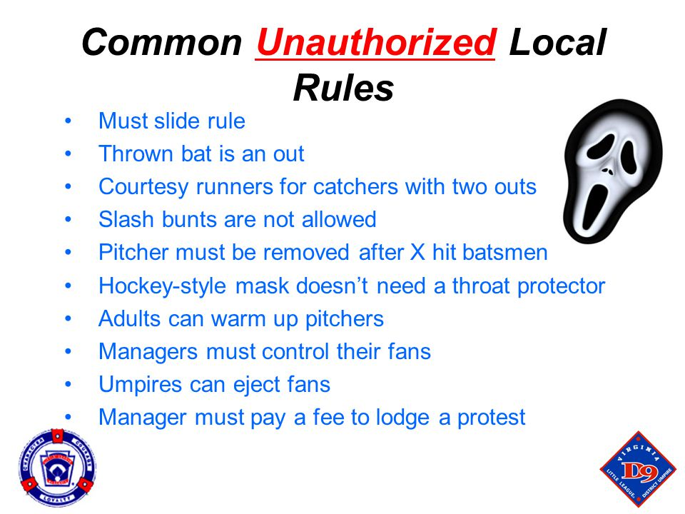 Common Unauthorized Local Rules