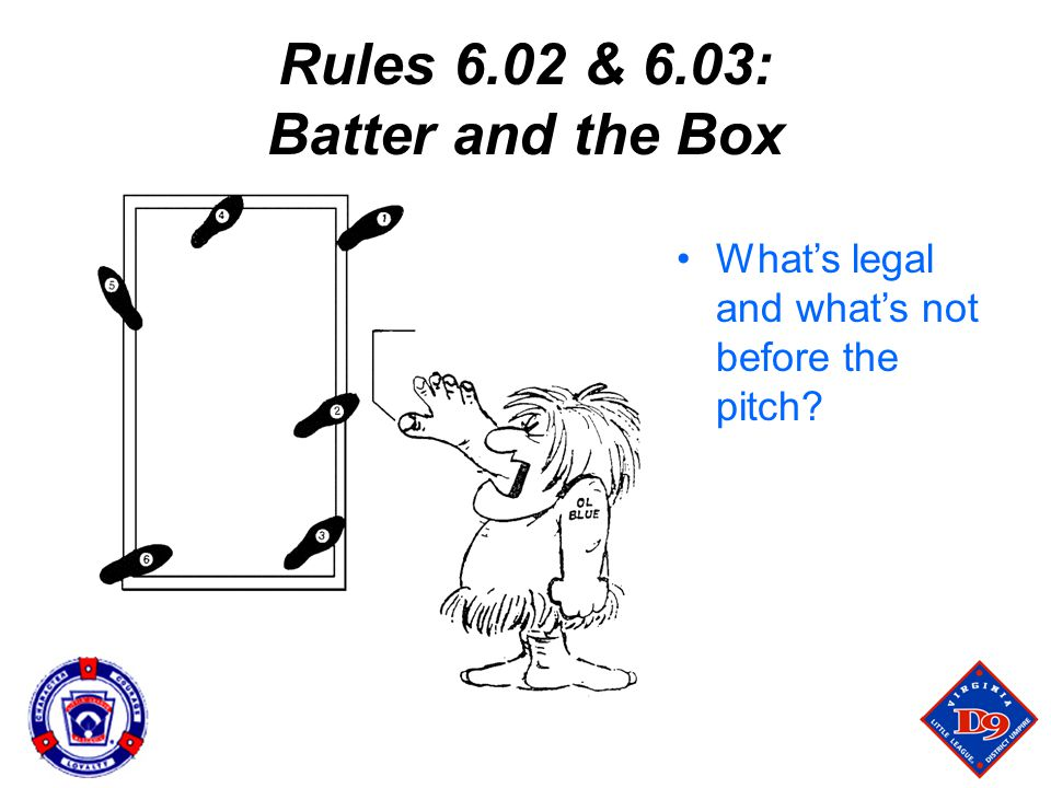 Rules 6.02 & 6.03: Batter and the Box