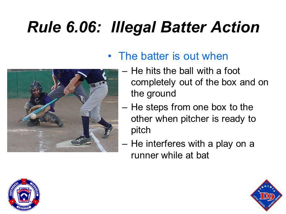 Rule 6.06: Illegal Batter Action