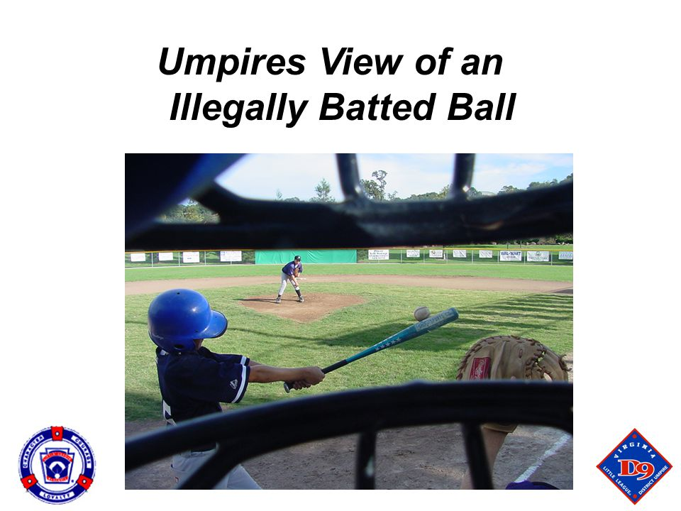 Umpires View of an Illegally Batted Ball