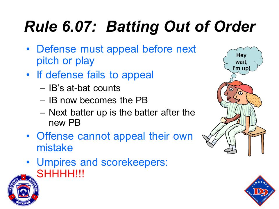 Rule 6.07: Batting Out of Order