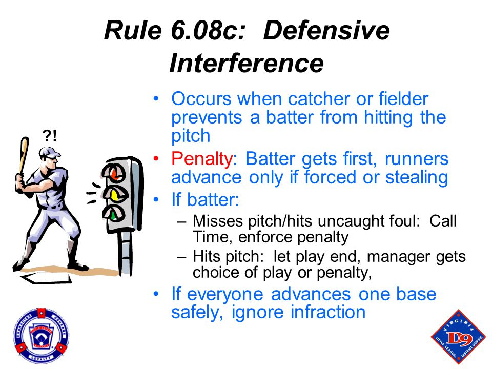 Rule 6.08c: Defensive Interference