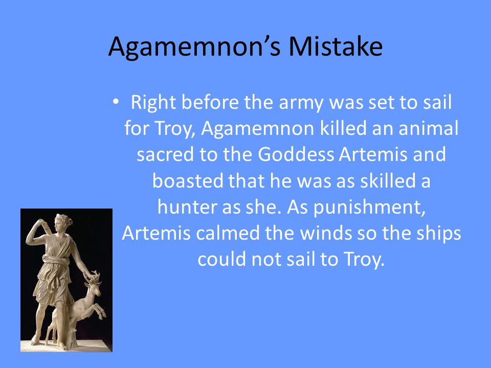 Agamemnon's Mistake