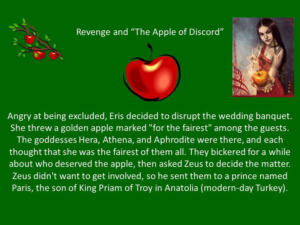 Revenge and The Apple of Discord