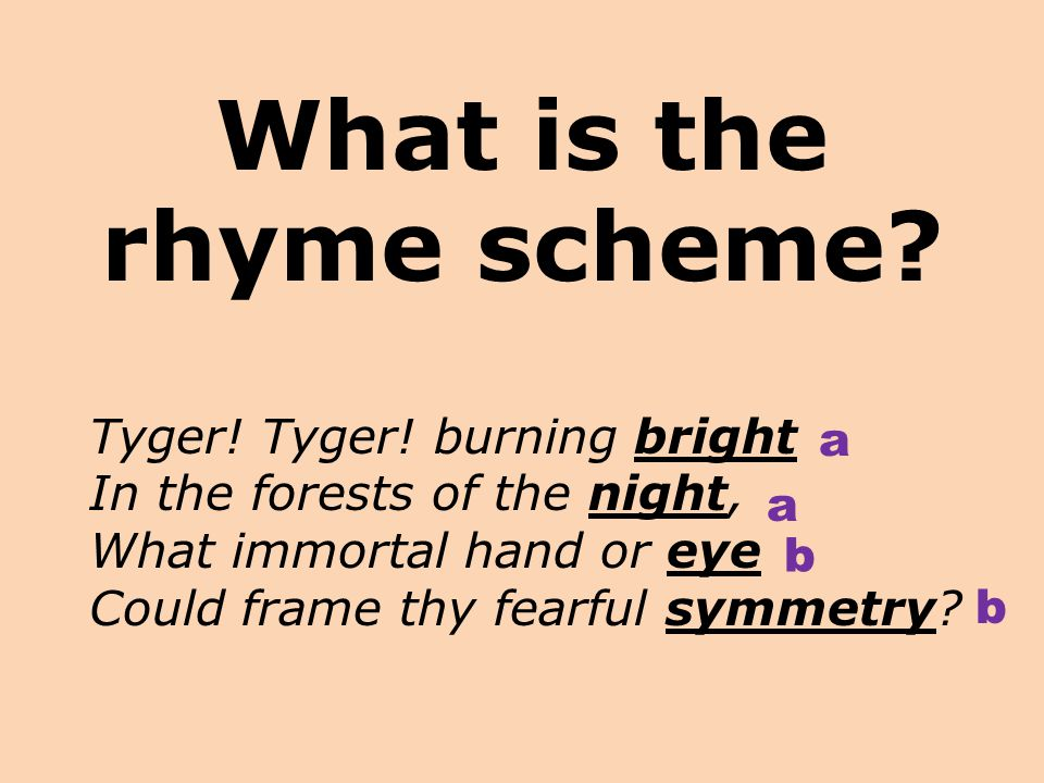 What is the rhyme scheme
