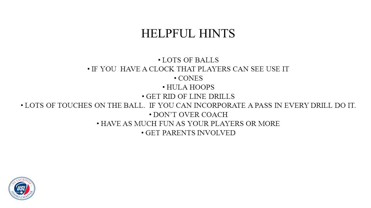 HELPFUL HINTS LOTS OF BALLS
