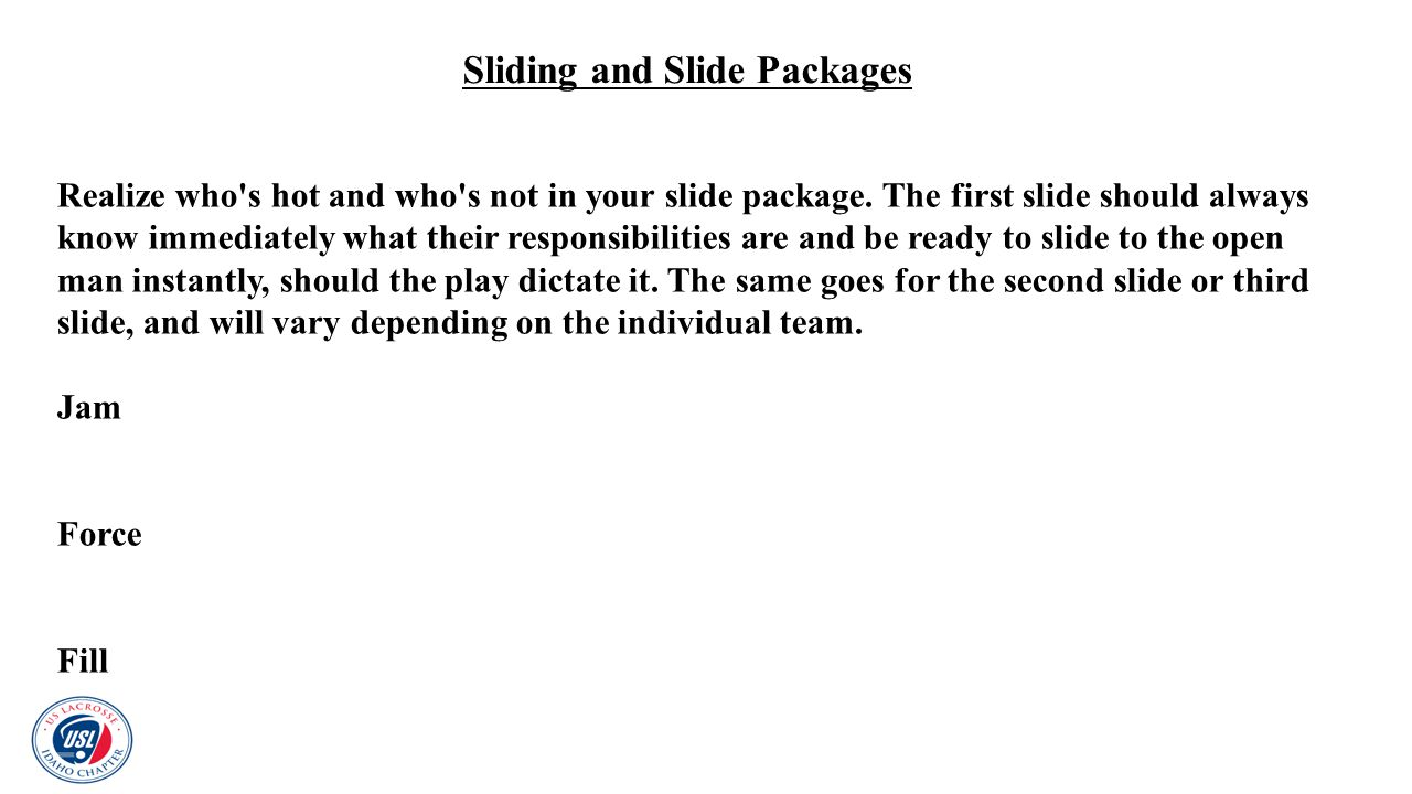 Sliding and Slide Packages