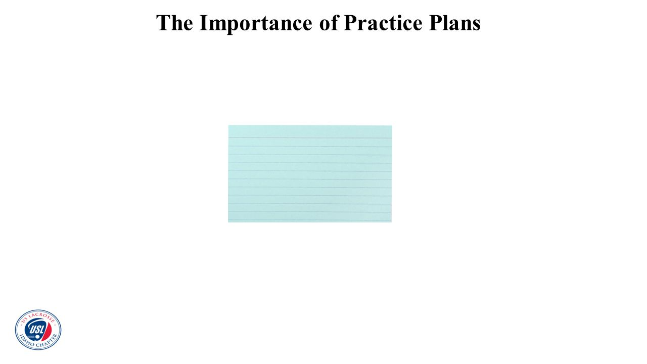 The Importance of Practice Plans