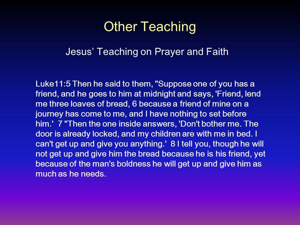 Jesus' Teaching on Prayer and Faith