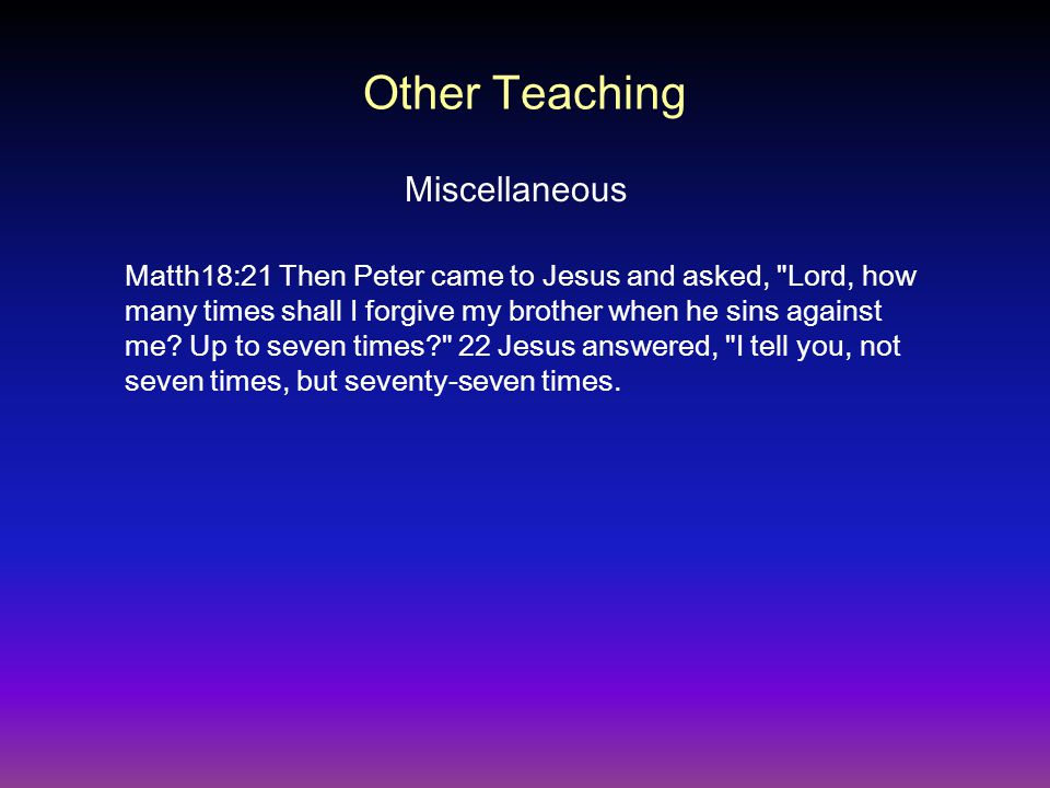 Other Teaching Miscellaneous