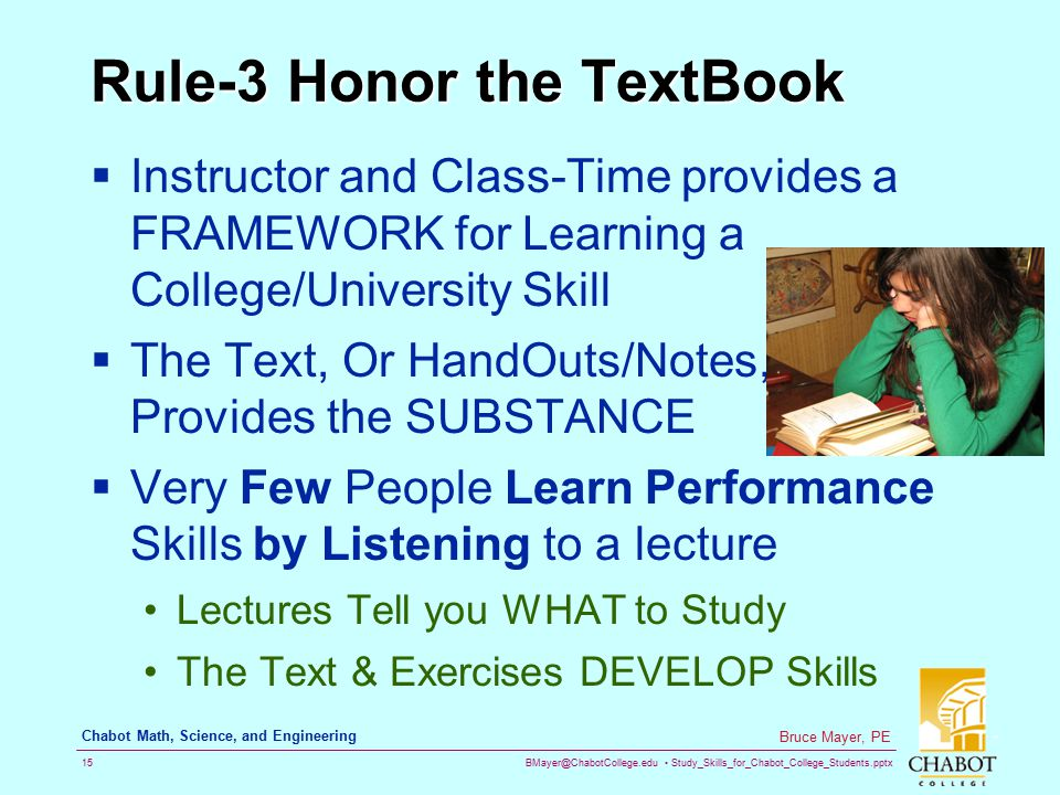 Rule-3 Honor the TextBook
