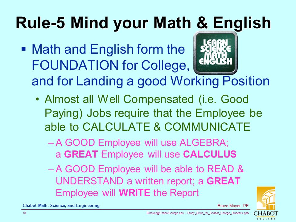 Rule-5 Mind your Math & English