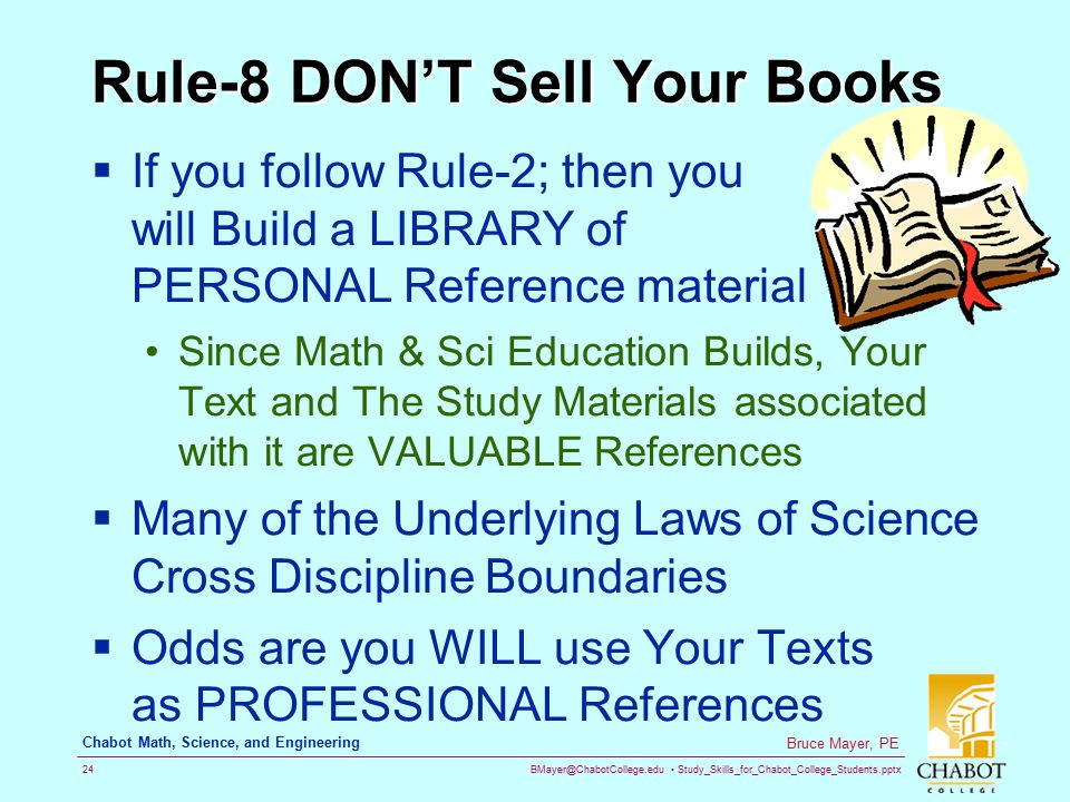 Rule-8 DON'T Sell Your Books