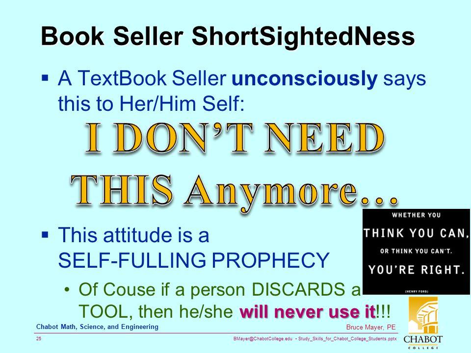 Book Seller ShortSightedNess